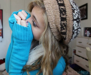 tumblr, beanie, and blonde image
