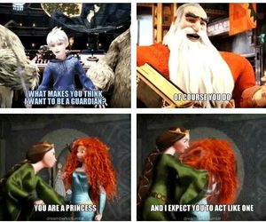 brave, jack frost, and merida image