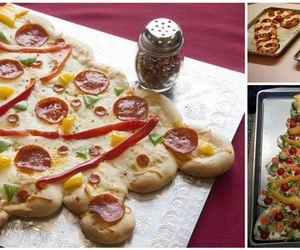 christmas, food, and pizza image