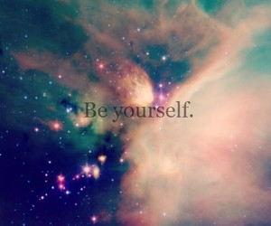 galaxy, be yourself, and yourself image