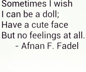 feelings, doll, and quote image