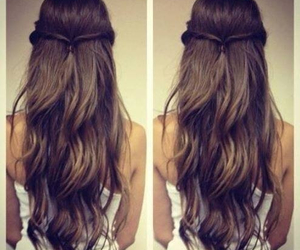 hair, hairstyle, and brunette image