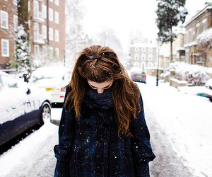 girl, place, and snow image