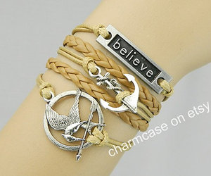 hungergames, anchorbracelet, and believebracelet image