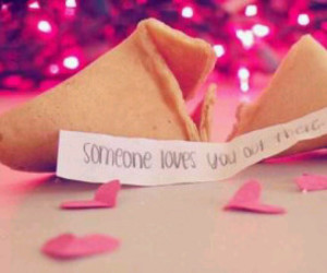 fortune cookie, hearts, and cute image