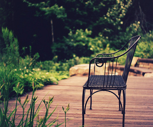 chair, nature, and nostalgia image