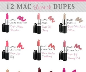 dupe, mac, and lipstick image