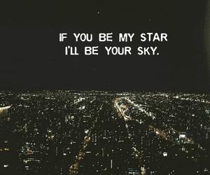 stars, sky, and love image