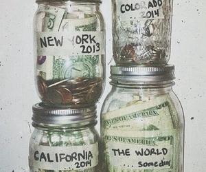 money, travel, and california image