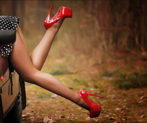 sexy, shoes, and red image