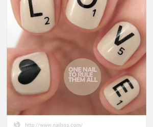 nails, scrabble, and pinterest image