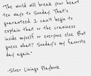 quotes, silver linings playbook, and Sunday image
