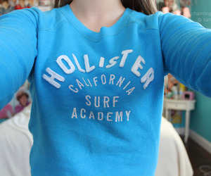 hollister, girl, and blue image
