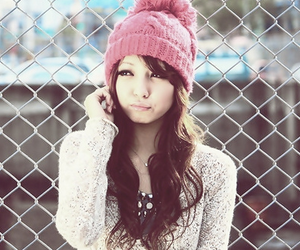 girl, pink, and asian image