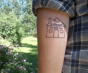 home, tattoo, and quotes image