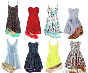 dresses, flats, and gold image