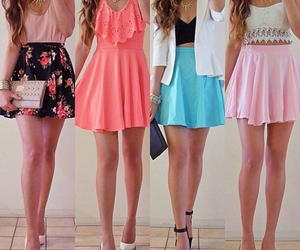 colorful, dress, and tumblrgirl image