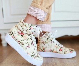 floral, shoes, and boots image