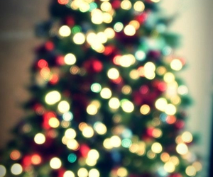 bokeh, christmas, and christmas tree image