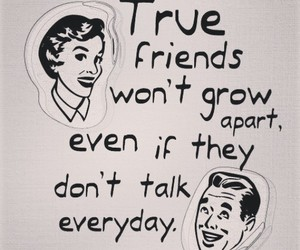 friends, true, and quote image