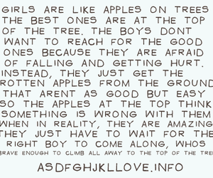 girl, apple, and love image