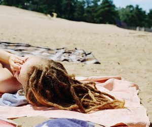 beach, dreadlocks, and dread image