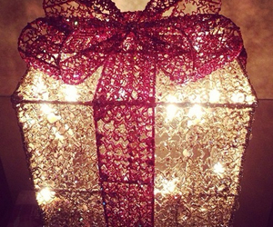 gift, christmas, and light image
