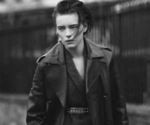 androgynous, black and white, and model image