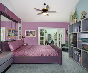 bedroom, luxury, and pink image