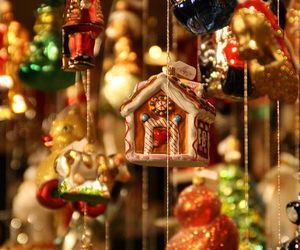 ornaments, baubles, and christmas image