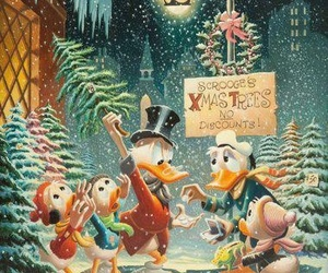 disney, scrooge mcduck, and christmas image