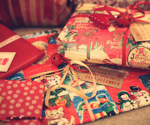 christmas, presents, and red image