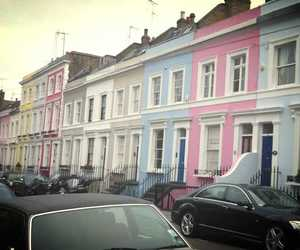 blue, london, and pink image