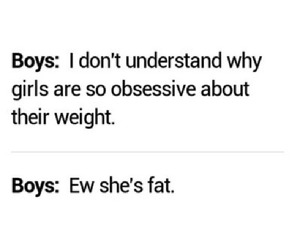 boy, fat, and girl image