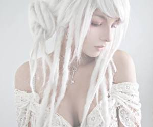 girl, white, and dreads image