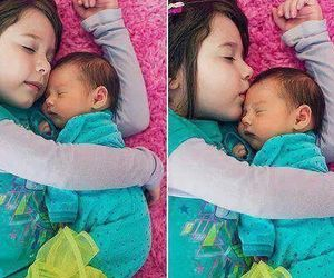 baby, sister, and cute image