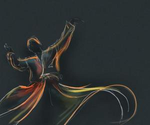 dancing, islam, and spiritual image