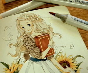 anime girl, illustration, and art image