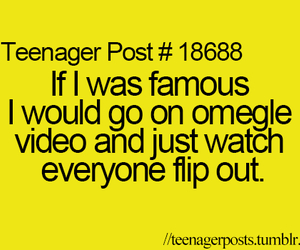 famous, omegle, and funny image