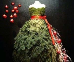 dress, christmas, and christmas tree image