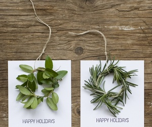cards, twigs, and happy holidays image