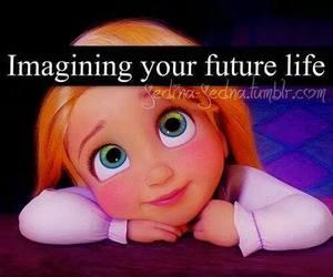 future, imagine, and life image
