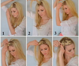 diy, hairstyle, and style image