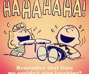laugh, snoopy, and peanuts image