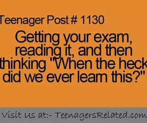 exam, quote, and teenager post image