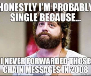 funny, single, and 2008 image