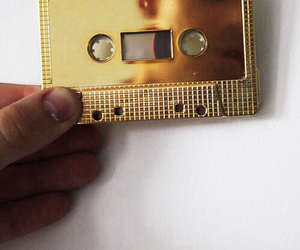 gold, music, and cassette image