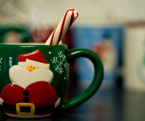 christmas, santa, and coffee image