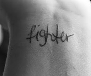 black and white, girl, and fighter image