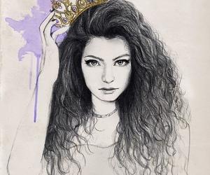 lorde, royal, and drawing image